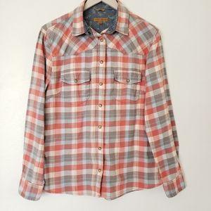 BEA Jacks Girlfriend Flannel Button Down Shirt